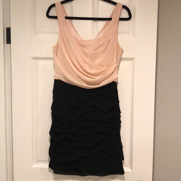 Express Dresses & Skirts - Express | blush and black ruched dress